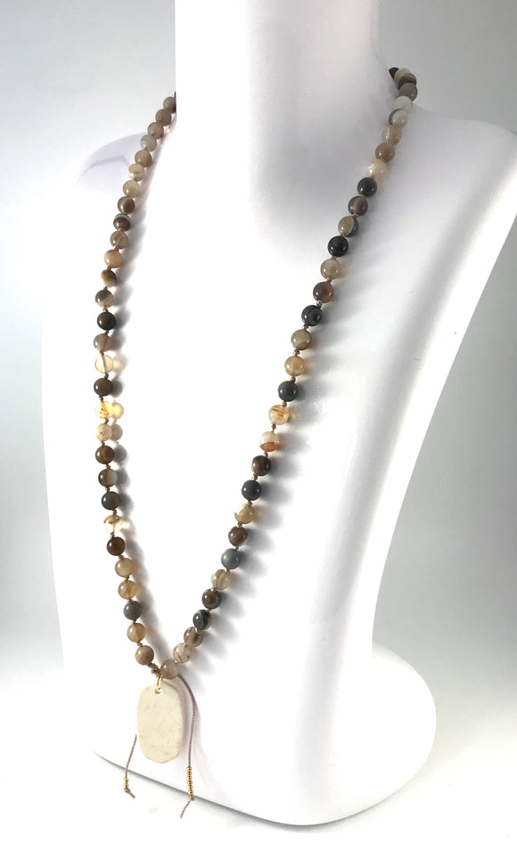 Botswana Agate Charm Necklace - The Support Collection