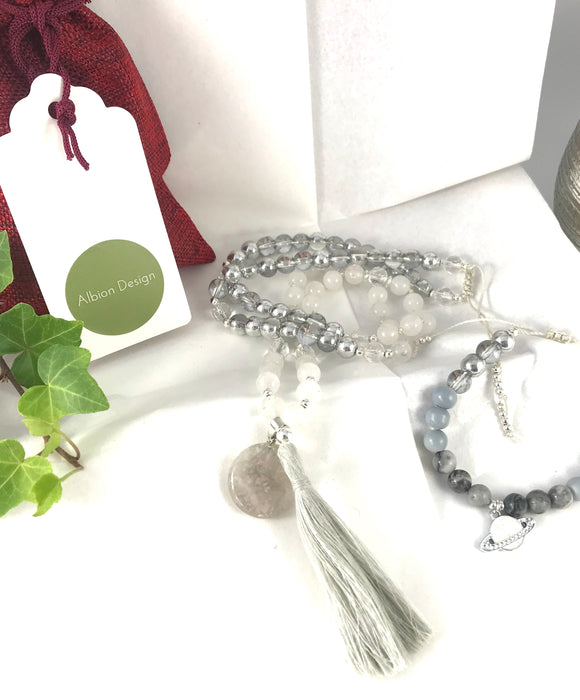 Planet Quartz Necklace and Bracelet Set