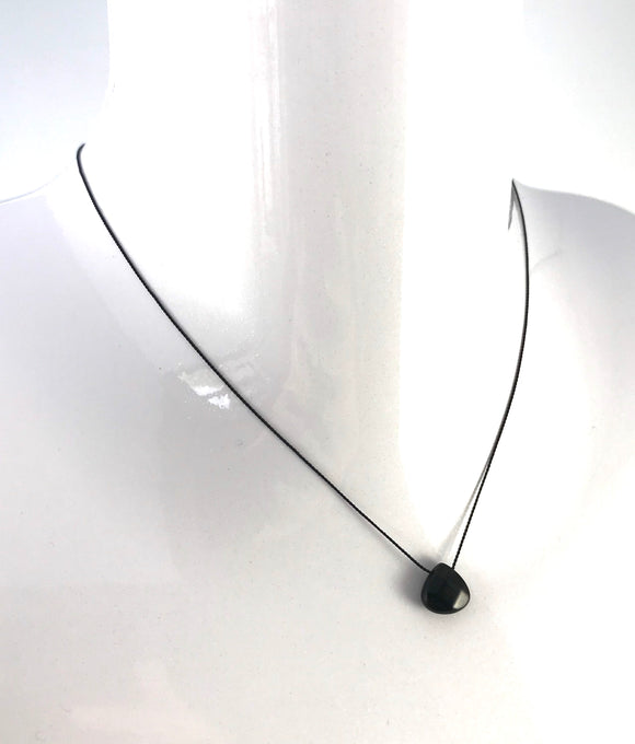 New - Onyx Silk Pendant Necklace