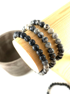 Volcano - Lined Agate Diffuser Bracelet 6mm