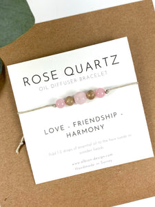 Rose Quartz - Mini Diffuser Bracelet