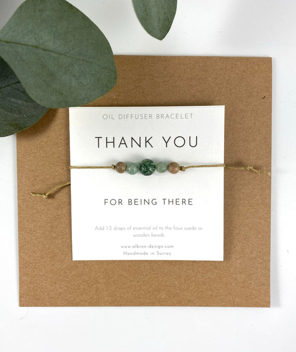 Thank You For Being There - Friendship Diffuser Bracelet