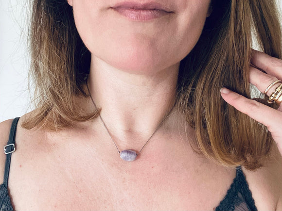 Fluorite Minimalist Gemstone Necklace