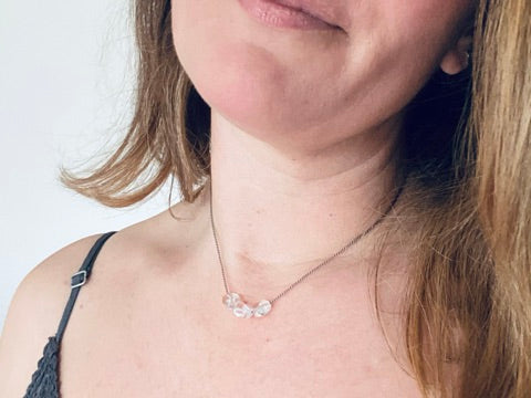 Clear Quartz Minimalist Gemstone Necklace