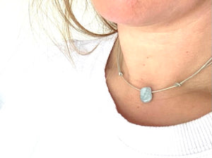 Aquamarine Choker Necklace