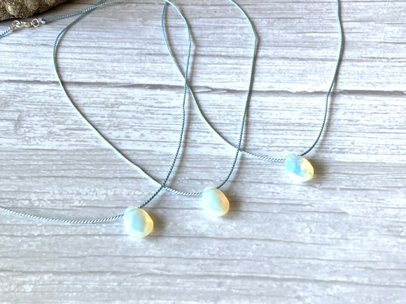 Opalite Silk Pendant Necklace