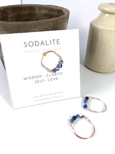 Sodalite Wire Wrapped Ring