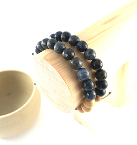 Deep Sea - Jade Navy Oil Diffuser Bracelet