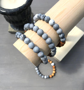Peace - Grey Agate Oil Diffuser Bracelet
