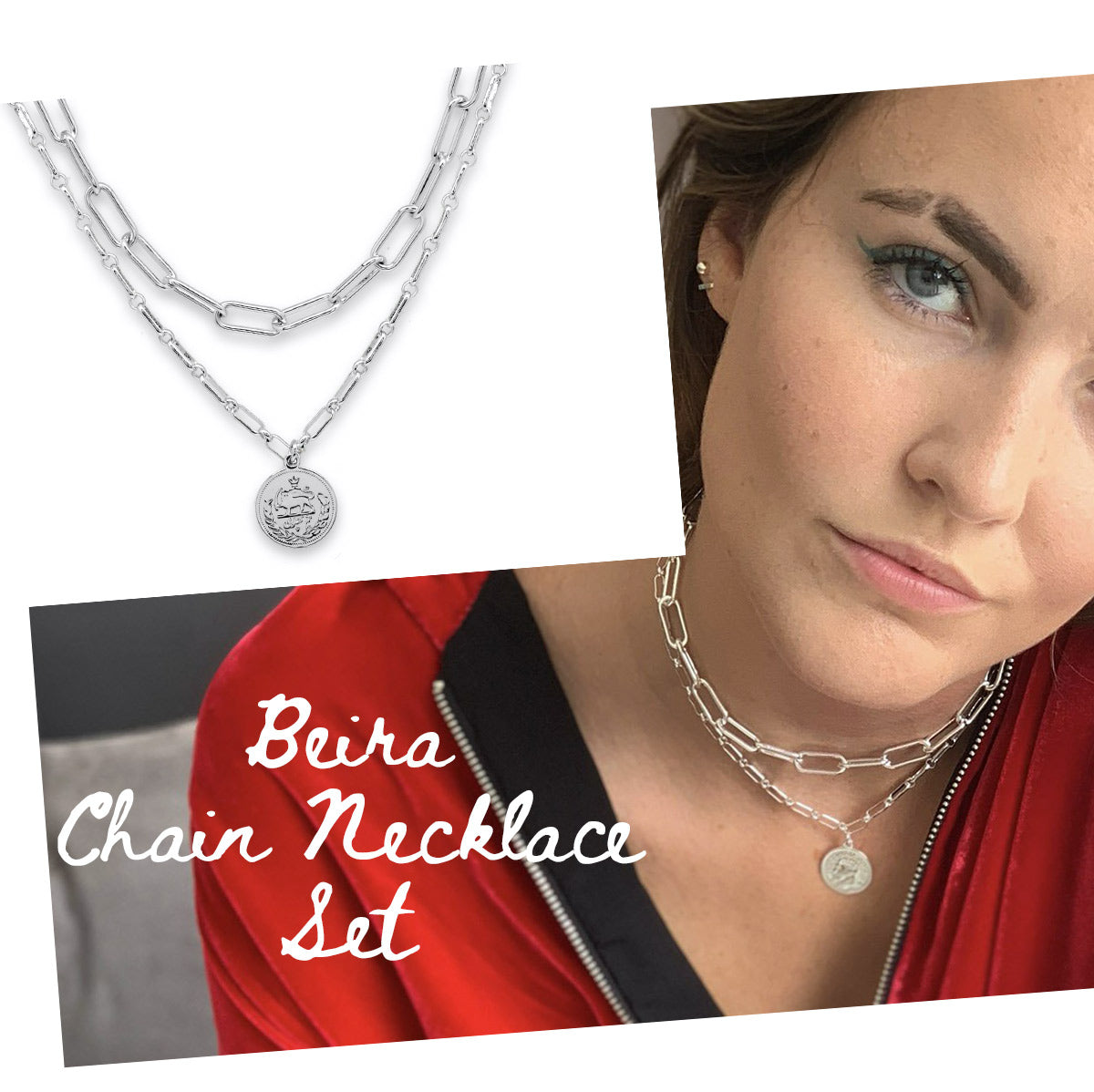 Beira Chunky Chain Necklace Set