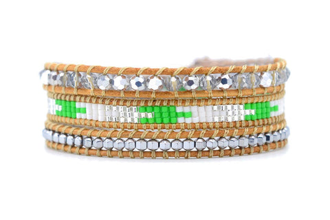 Abbey Lincoln Leather 3 Wrap Bracelet