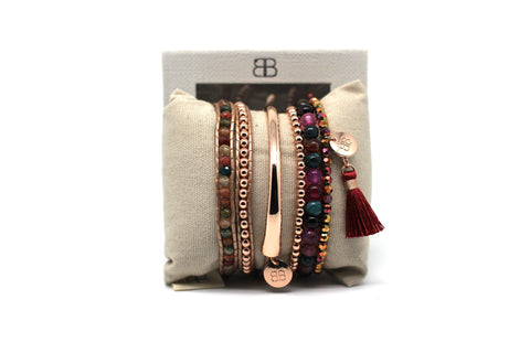 Theresa 3 Layered Multi Coloured Crystal Stack