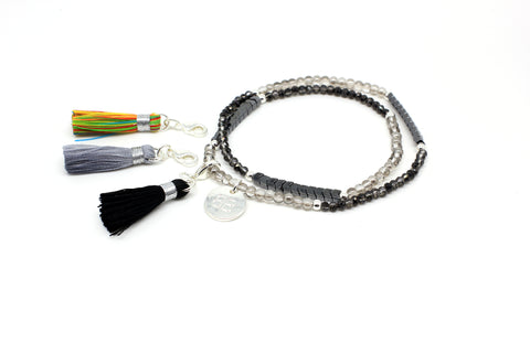 Thistle Stretchy Triple Tassel Bracelet Gift Set