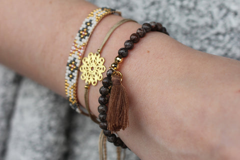 Shinkansen 3 Layered Beaded Friendship Stack