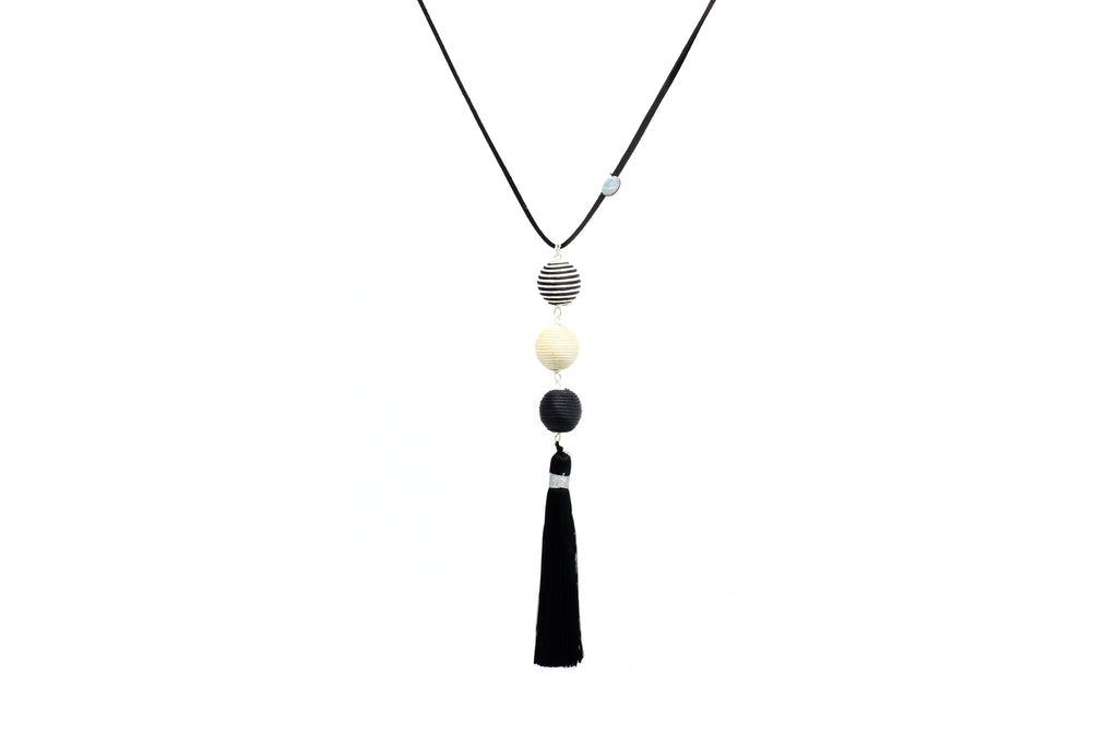 Epona Black Tassel Necklace