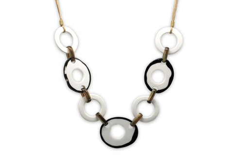 Theia White Necklace