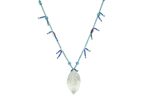 Freyja Turquoise Leaf Necklace