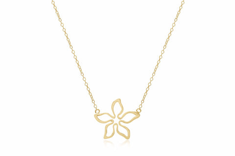 Adriatic Gold on Sterling Silver Flower Necklace