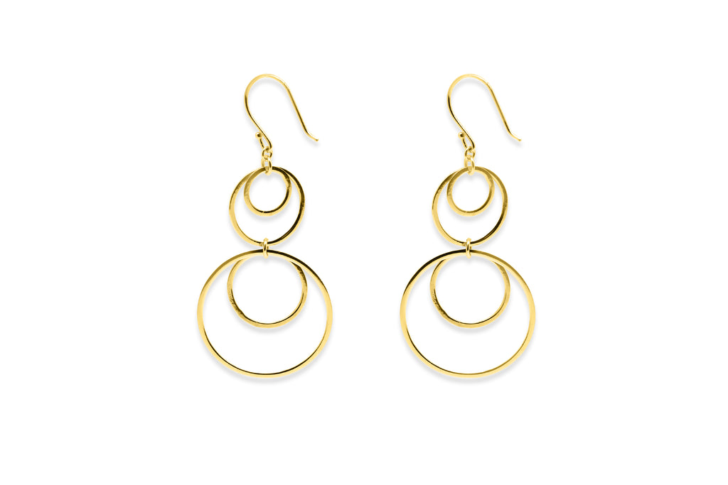 Allgood Gold Multi Circle Earrings