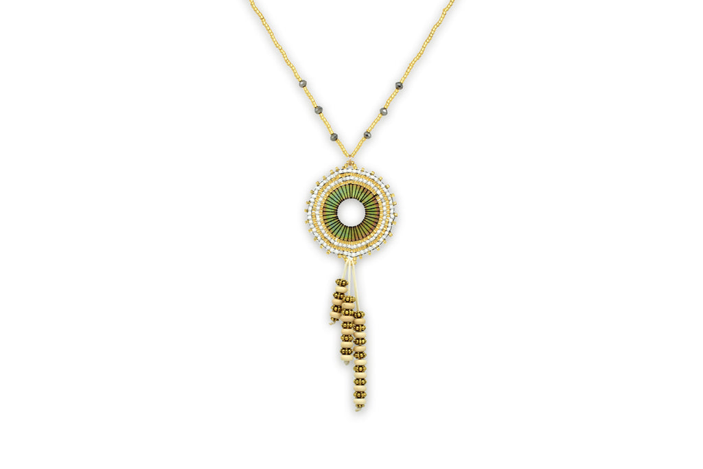 Atropos Beaded Gold Necklace