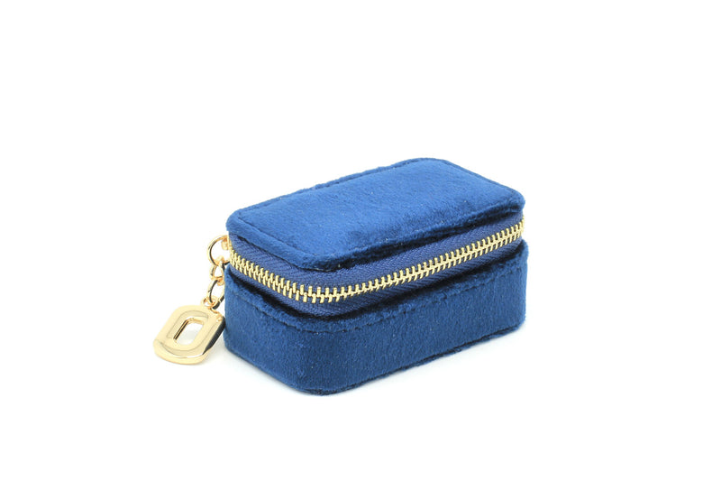Carlotta Navy Velvet Mini Jewellery Box