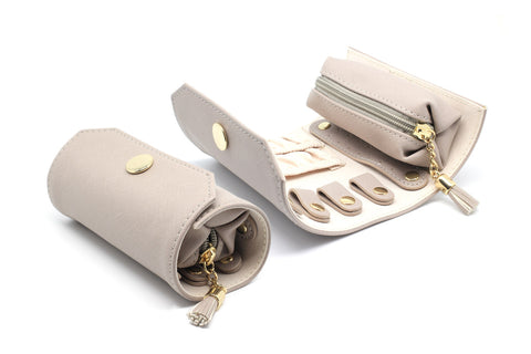 Mortella Taupe Jewellery Roll