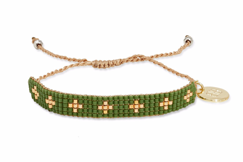 Cactus Green Beaded Friendship Bracelet
