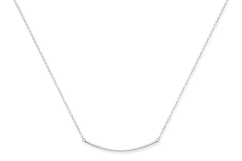 Carignan Sterling Silver Necklace with Silver Bar