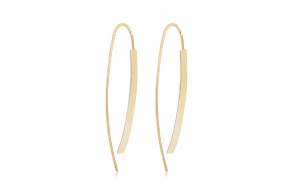 Jolie Gold Bar Thread Through Earrings