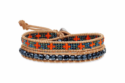 Etta Jones Leather 2 Wrap Bracelet