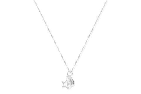 Kir Sterling Silver Charm Necklace