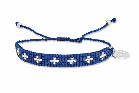 Lazarus Blue Beaded Friendship Bracelet