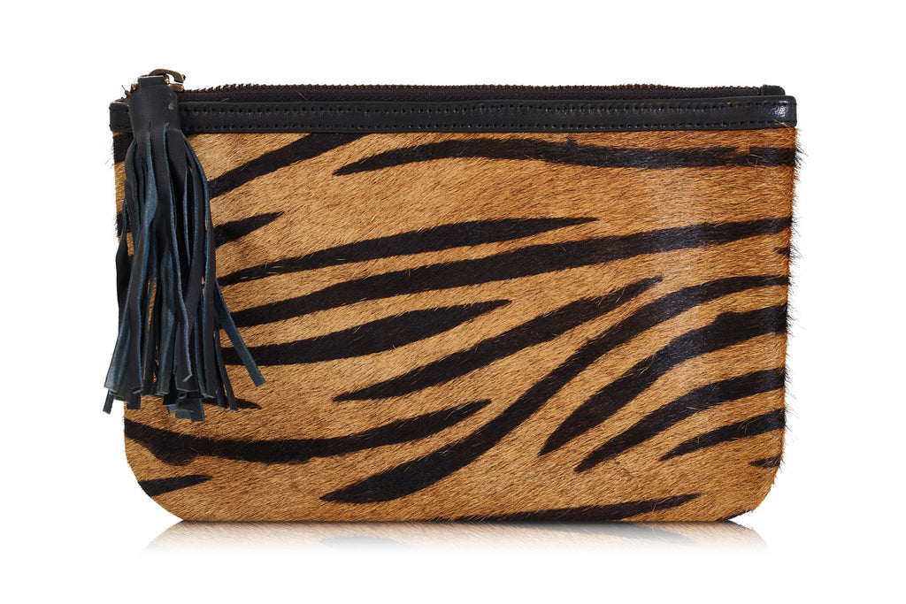 Montijo Animal Print Leather Clutch Bag