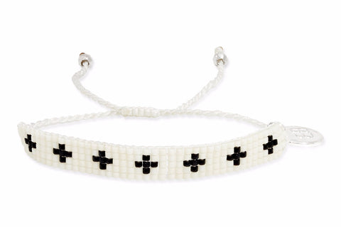 Rebel White Beaded Friendship Bracelet