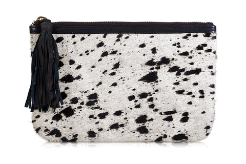 Roche Animal Print Leather Clutch Bag