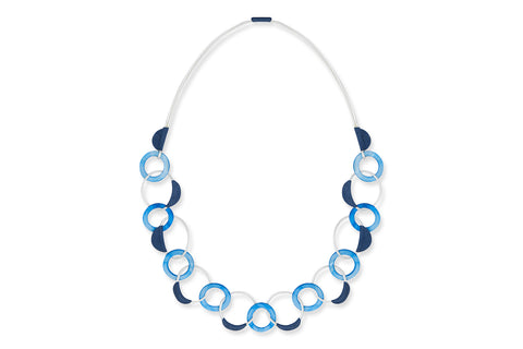 Elli Blue Mother of Pearl Shell Necklace
