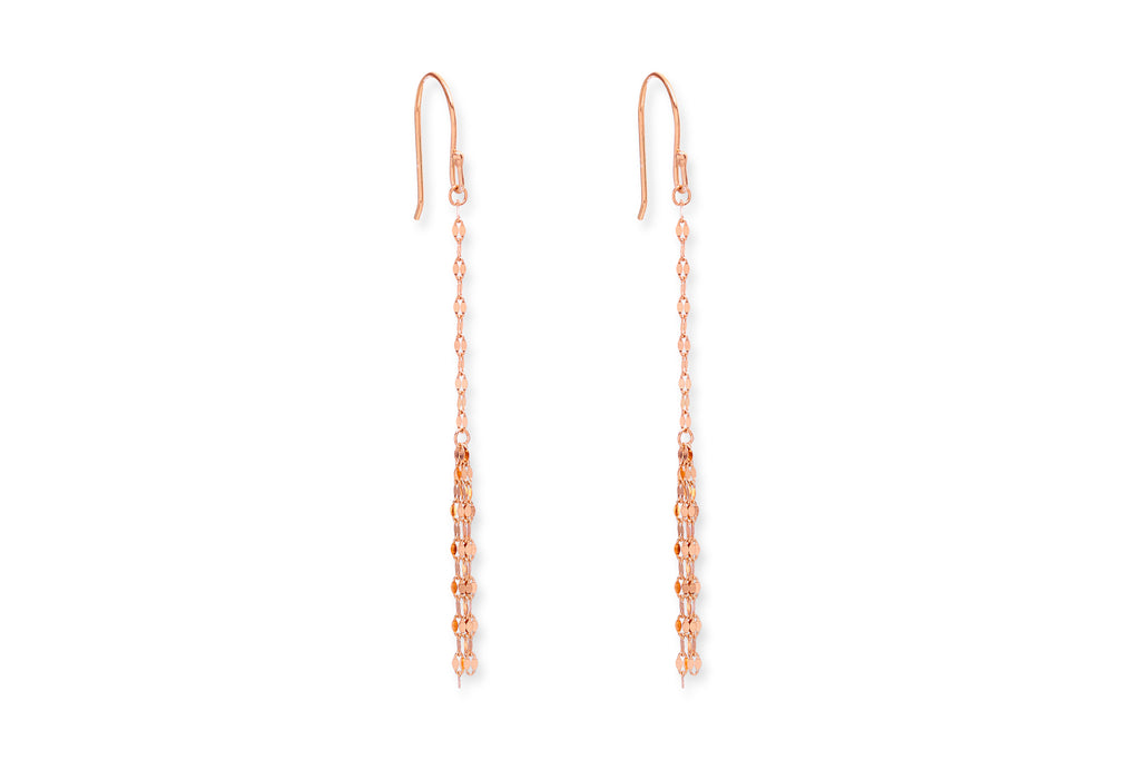 Braga Rose Gold Chain Drop Earrings