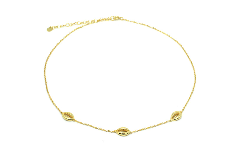 Paloma Gold Triple Shell Choker - Boho Betty