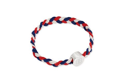 Navy, Red and White Hair Tie & Bracelet