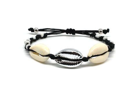 Bandari Black Shell Friendship Bracelet