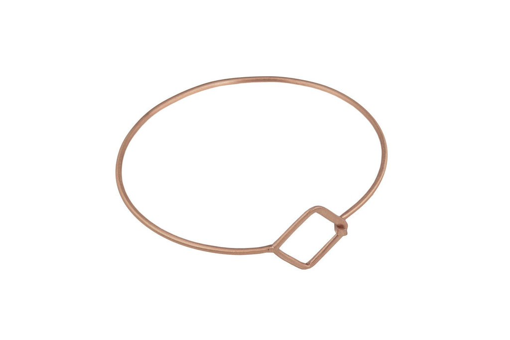 Biel Rose Gold Bangle with Hollow Square Design