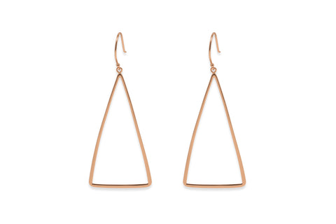 Honor Rose Gold Triangle Earrings