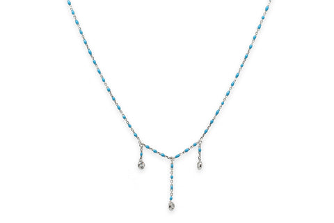 Bourbon Silver Aqua Necklace