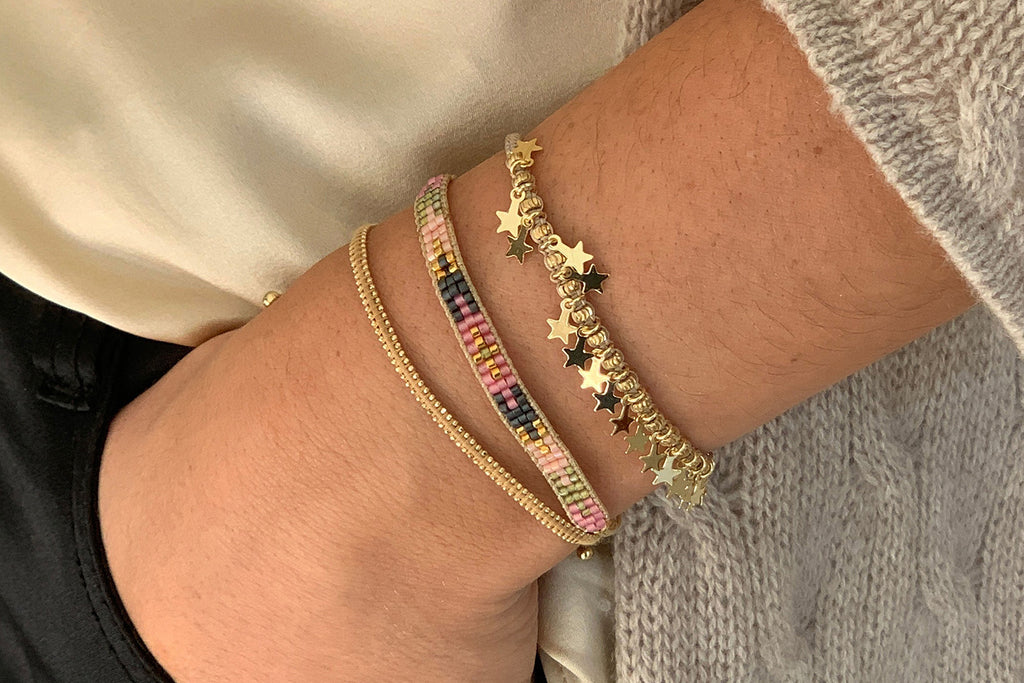 Honolulu Gold 3 Layered Bracelet Stack