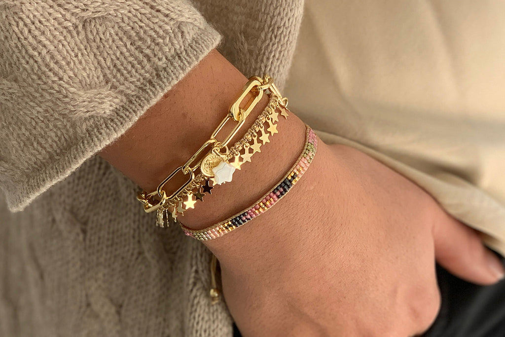 Zibo 3 Layered Bracelet Stack - Boho Betty