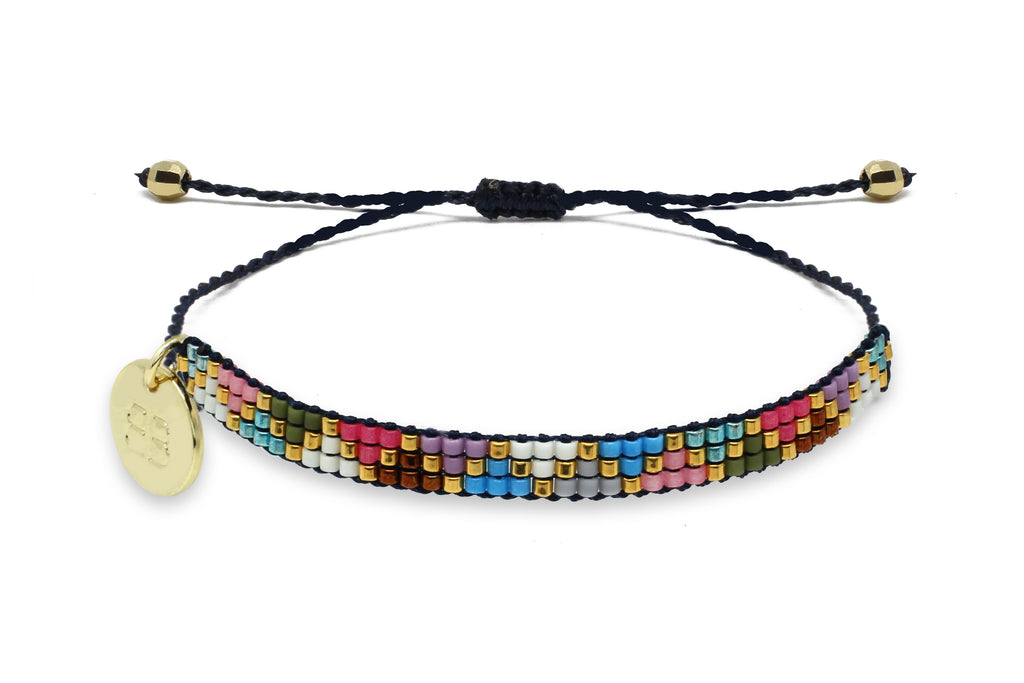 Fever 3 Row Multi coloured Friendship Bracelet - Boho Betty
