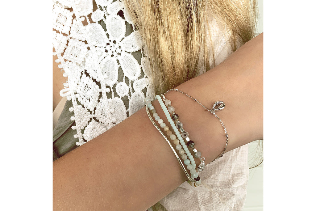 Zamba Mint 3 Layer Friendship Bracelet - Boho Betty