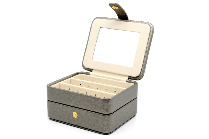 Butchart Grey Square Jewellery Box - Boho Betty