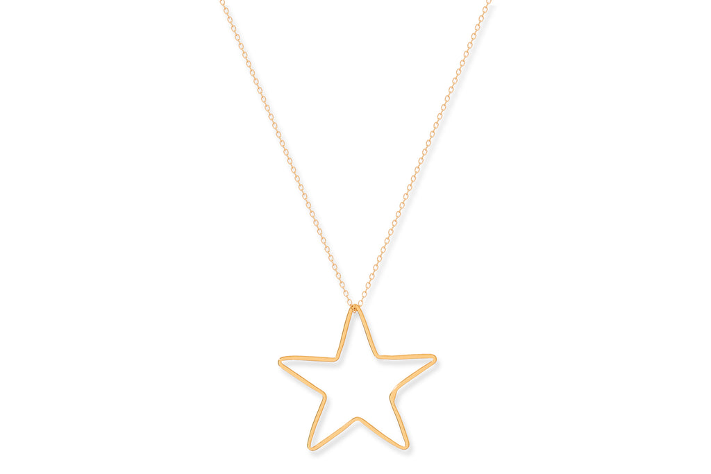 Concord Gold on Sterling Silver Star Necklace
