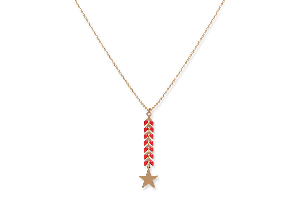 Cardea Coral Red Star Necklace